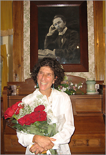 Melanie Monsour after the first concert in Russia, Skriabin Museum, Moscow, August 09th, 2007